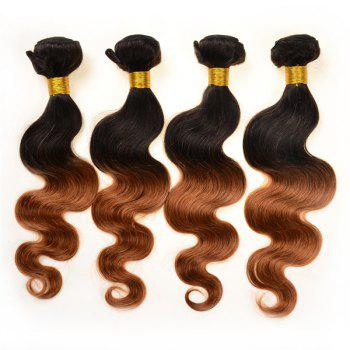 Double Color Body Wave 3Pcs/Lot 6A Virgin Brazilian Hair Weaves - COLORMIX COLORMIX