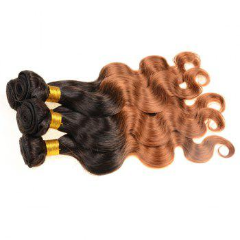 Double Color Body Wave 3Pcs/Lot 6A Virgin Brazilian Hair Weaves - COLORMIX 26INCH*26INCH*26INCH