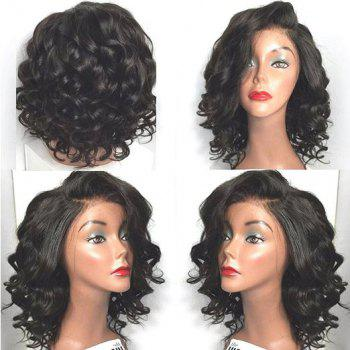 Short Side Parting Wavy High Temperature Fiber Lace Front Wig