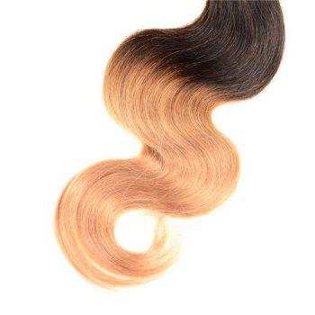 Double Color 3Pcs/Lot Body Wave 6A Virgin Brazilian Hair Weaves - COLORMIX 12INCH*12INCH*12INCH
