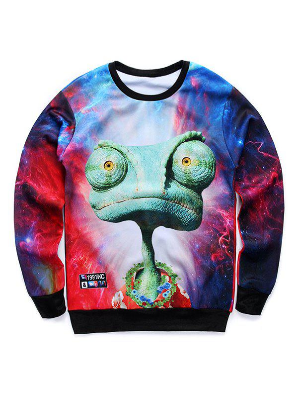 Cartoon 3D Print Crew Neck Galaxy Sweatshirt sweatshirt with 3d galaxy print