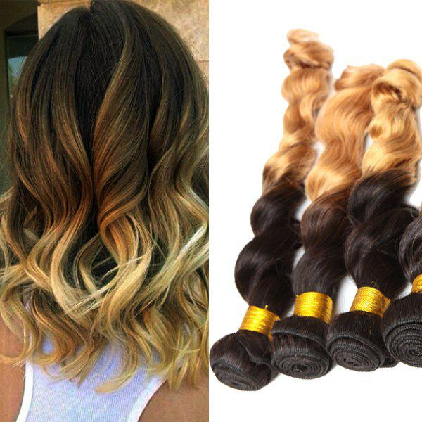 Double Color 3Pcs/Lot Loose Wave 6A Virgin Brazilian Hair Weaves - COLORMIX 26INCH*26INCH*26INCH