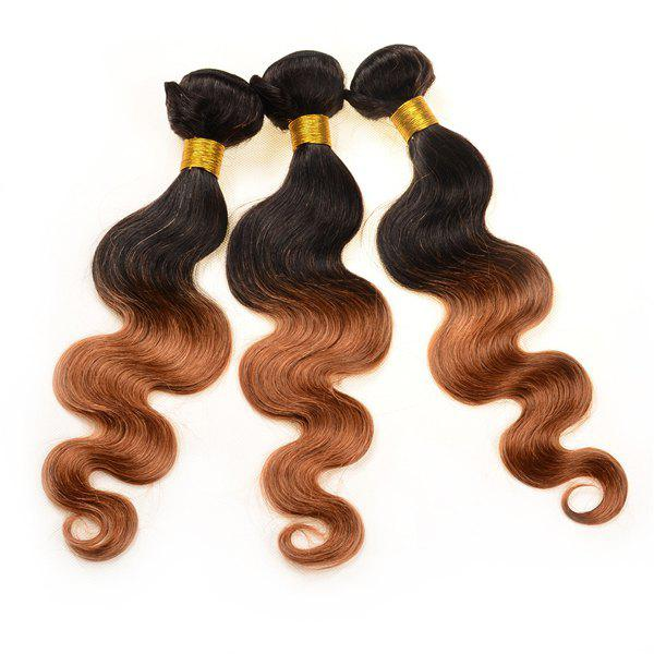 Double Color Body Wave 3Pcs/Lot 6A Virgin Brazilian Hair Weaves - COLORMIX 24INCH*24INCH*26INCH