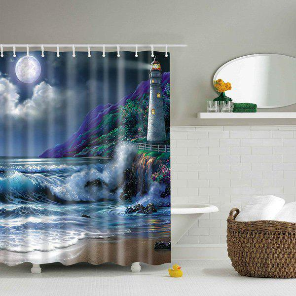 Waterproof Printed Nature Landscape Design Shower Curtain - COLORMIX L