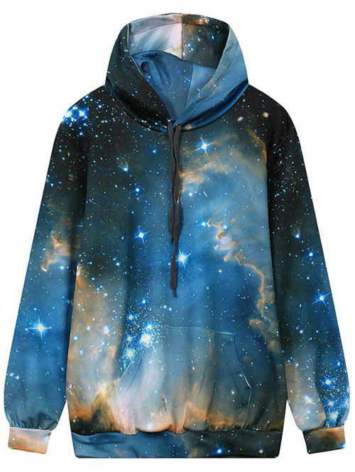 Sweat à Capuche Imprimé Galaxie avec Poche - multicolor M
