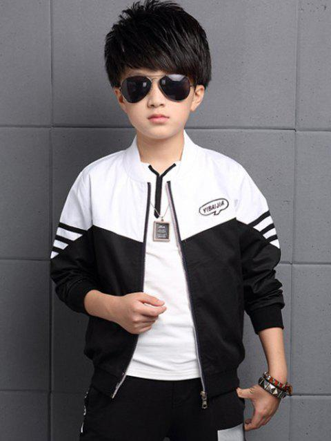 Zipper Fly Kids Jacket - BLACK 140