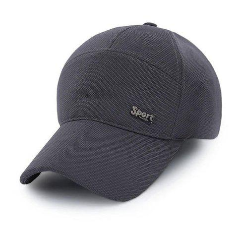 Hip Hop Sunscreen Outdoor Snapback Baseball Hat - DEEP GRAY