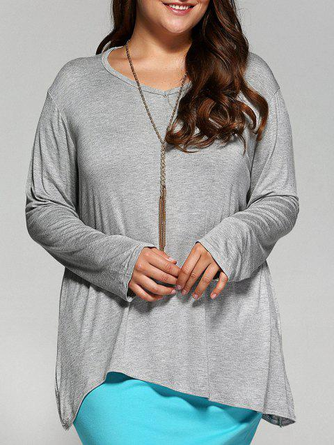 Vrac Asymmetric long T-shirt - Gris Clair XL