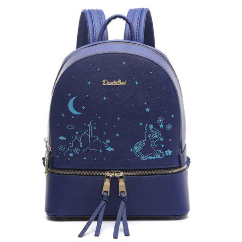 Brodé Imprimer Luminous Backpack - Bleu
