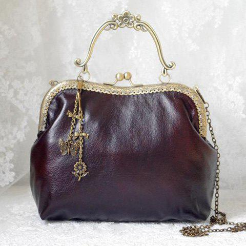 2019 Kiss Lock Chain Vintage Tote Bag In DEEP BROWN   DressLily.com 6136648892