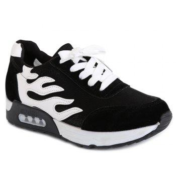 Mesh Suede Panels Breathable Sneakers