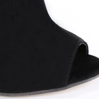 Fashionable Black and Hollow Out Design Women's Peep Toe Shoes - BLACK 37
