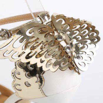 Fashion Wings and Hollow Out Design Women's Sandals - GOLDEN GOLDEN