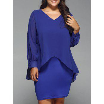 Long Sleeve Popover Dress