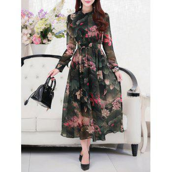 Floral Vintage Chiffon Dress