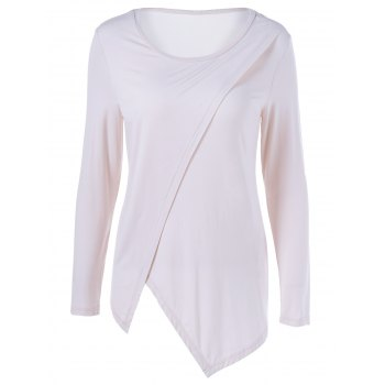 Asymmetrical Scoop Neck T-Shirt