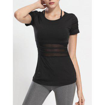 Mesh Panel See Through Running T-Shirt