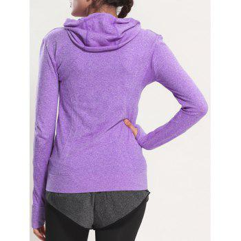 Manteau rapide Dry Sporty Hooded - Pourpre L