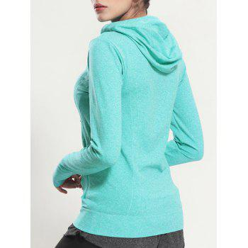 Quick Dry Hooded Sporty Coat - MINT GREEN MINT GREEN