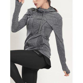 Quick Dry Hooded Sporty Coat - GRAY GRAY