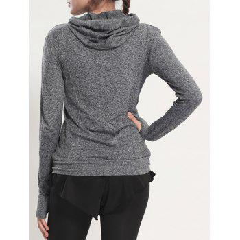 Manteau rapide Dry Sporty Hooded - Gris S