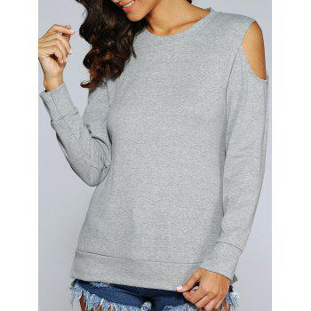 Long Sleeve Cold Shoulder Pullover Sweatshirt
