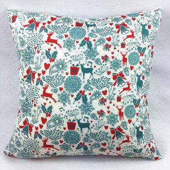 Christmas Deers Bells Gift Double-Faced Print Pillowcase