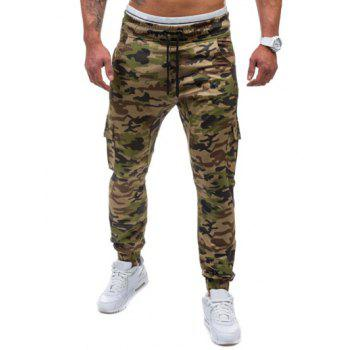 Camo Print Multi-Pockets Jogger Pants