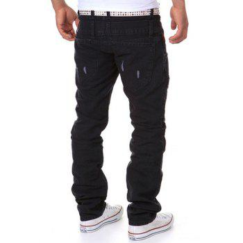 Double-taille Straight Leg Distressed Cargo