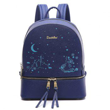 Embroidered Print Luminous Backpack