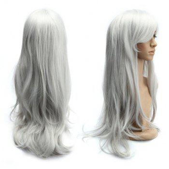 Long Side Bang Slightly Curled Parrucca Piena Cosplay Synthetic Wig