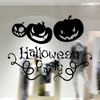 Removable Halloween Pumpkin Waterproof Room Wall Sticker