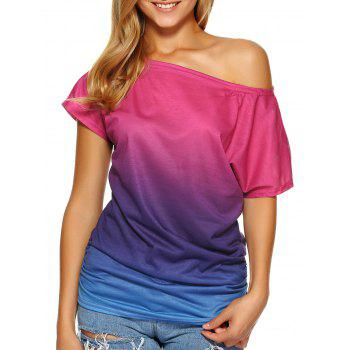 Buy Short Sleeve Ombre Tee BLUE