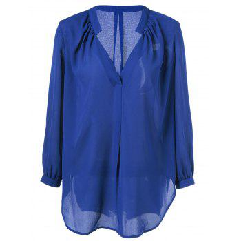 High-Low Chiffon Blouse