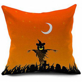 Pumpkin Vampire Halloween Printed Decorative Pillow Case