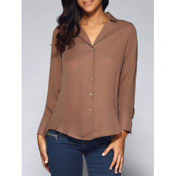 Notched Collar Long Sleeve Shirt