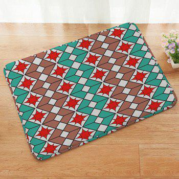 Muticolor Geometric Pattern Absorbent Anti-slip Doormat Carpet