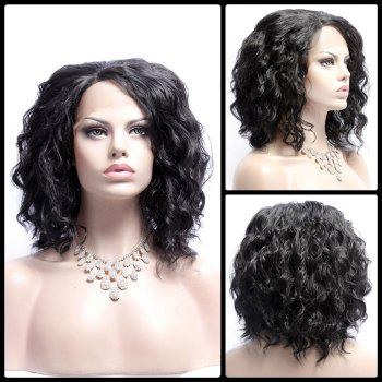 Medium Side Bang Wavy Fluffy Lace Front Synthetic Wig