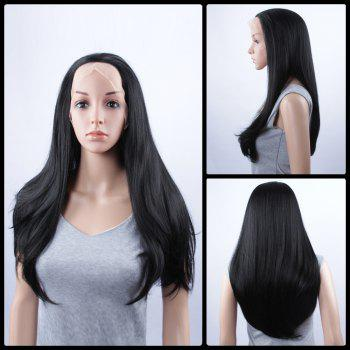 Natural Straight Long Lace Front Synthetic Wig