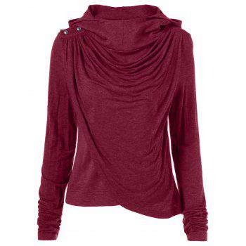 Ruched Asymmetrical Hoodie