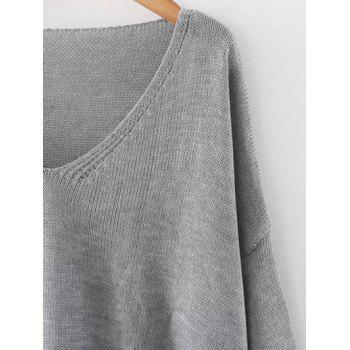 Drop Shoulder Oversized Sweater - ONE SIZE ONE SIZE