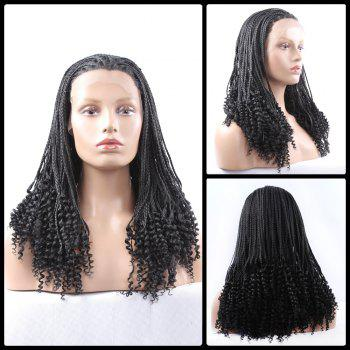 Long Braided With Curly Synthetic Lace Front Wig