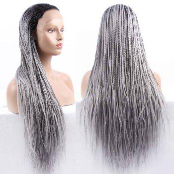 Double Color Long Braided Synthetic Lace Front Wig
