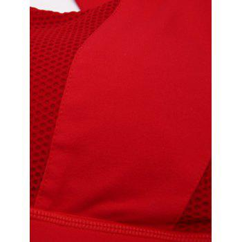 Criss Cross Backless Sporty Bra - Rouge S