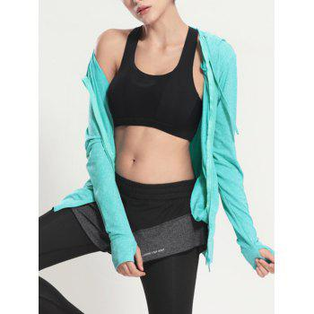 Quick Dry Hooded Sporty Coat - MINT GREEN M