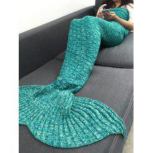 Comfortable Acrylic Knitted Sofa Mermaid Tail Style Blanket