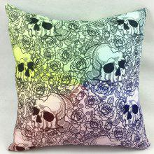 Rose Skull Ombre Double-Faced Print Pillowcase