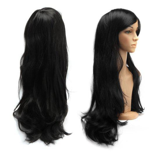 Long Side Bang Slightly Curled Parrucca Piena Cosplay Synthetic Wig аксессуары для косплея cosplay wig cosplay cos cos