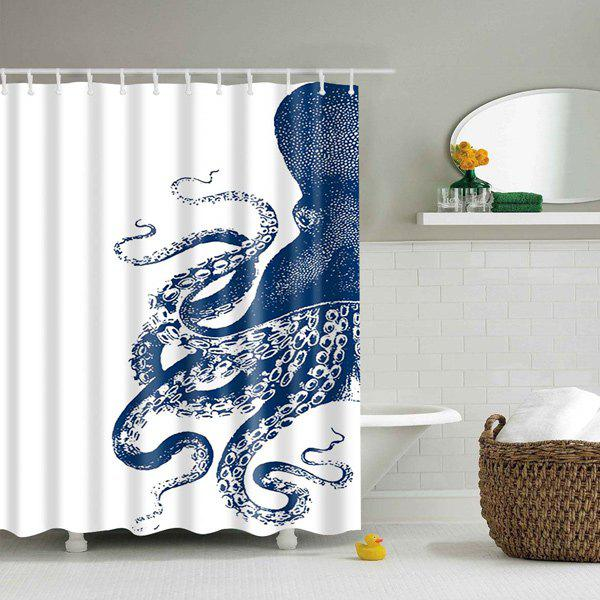 Waterproof Octopus Printed Polyester Shower Curtain natural bamboo polyester waterproof shower curtain