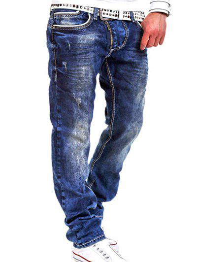 Special Zipper Design Loose Straight Leg Jeans китайские шахматы friends of the ming 0811210